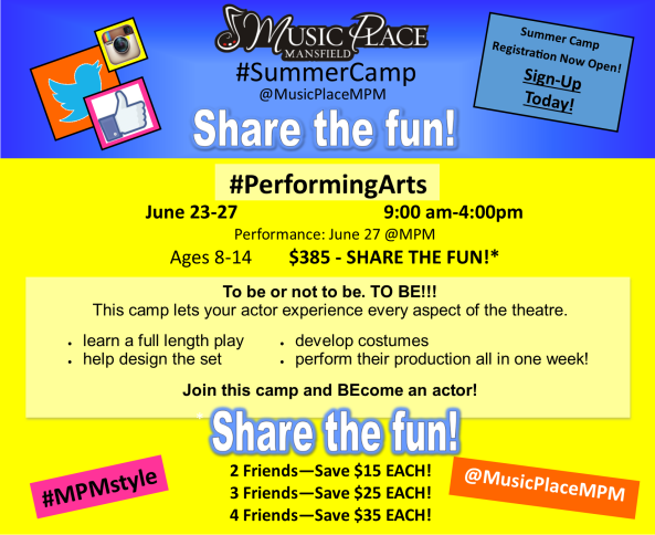 #PerformingArts Camp! #mpmstyle